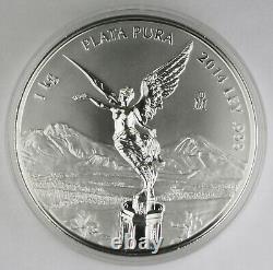 Mexique 2014 Kilo Gram 32.15 Oz Silver Libertad Coin Gem Bu Proof Like +box & Coa