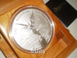 Mexique 2018 Libertad 1 Kilo. 999 Silver Coin & Coa Boîte Originale