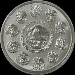 Mo Silver Mexico 2010 32,15 Oz Kilo 100 $ Calendrier Aztèque 999 Pièce D'argent Fine
