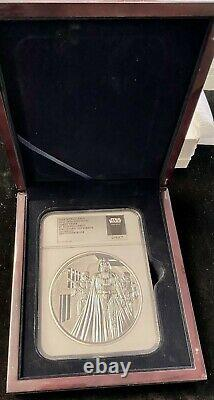 Ngc Pf70 Ucam Darth Vader Star Wars Classic 2016 Nuie 1 Kilo Silver Coin 100 $