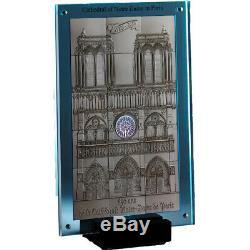 Niue 2014 10 $ 850e Anniversaire De Notre Dame À Paris 1 Kilo Bu Silver Coin