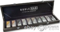 Noble Bar Shangai Edition Kilo Set 10 Pièces D'argent 3000 Francs Cameroun 2020