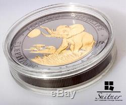 Or Enigma 1 Kilo Silber Somalie Elefant 2016 Or Ruthenium