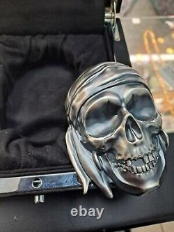 Palau Big Pirate Skull 2018 Antiqued 1/2 Kilo Silver Coin 500 Grammes