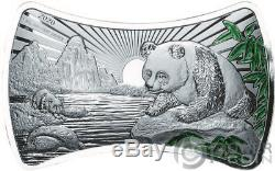 Panda Forme Os 1 KG Kilo Argent Monnaie 10 $ Fidji 2020