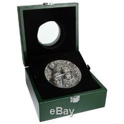 Panda Haut-relief 1 Kilo Fini Antique Silver Coin 10000francs Côte-d'ivoire 2020
