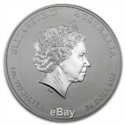 Perth Mint Australie $ Série 30 Lunar II Dragon 2012 1 KG Kilo. 999 Silver Coin