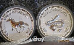 Perth Mint Lunar Series I Kilo Coin 12 Set Pc. Une Fois Dans Une Acquisition À Vie