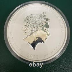 Pièce D'argent Kilo 2013. Année Du Serpent. Monnaie Perth Australienne Dans La Boîte D'affichage