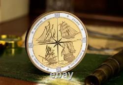 Pièce Très Rare De Demi Kilo D'argent Célébrant Les Tall Ships Of Canada Ltd 500