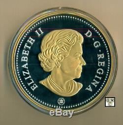 Plaqué Or 2018kilo'voyageur Silver Dollar ' Prf 1 Pièce En Argent Fin $ (18645) Ooak