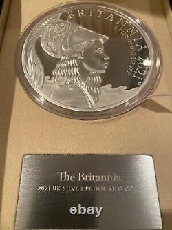 Première Grève Série #3! Britannia 2021 Royaume-uni Premium Exclusive Silver Kilo Coin