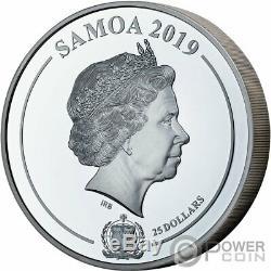 Princesse Grace Kelly Ombre Refrappes 1 KG Kilo Argent Monnaie 25 $ Samoa 2019