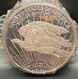Rare En 1989 1kilo. 999 Silver Proof Round Commémorant Saint Gaudens Aveccoa