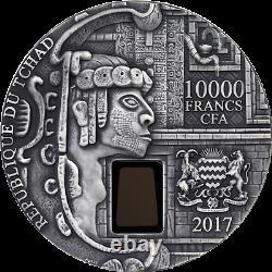 République Du Tchad 2017 10000 Francs Cfa Uxmal 1 Kilo Antique Finition Argent Pièce