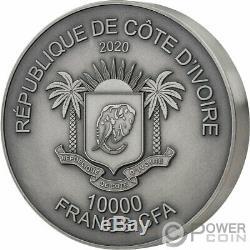 Rhino Big Five Mauquoy 1 KG Kilo Argent Monnaie 10000 Francs Côte D'ivoire 2020