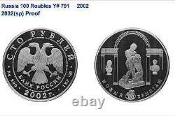 Russie 1996 Pièce D'argent 1 Kilo KG 100 Roubles Faune Amour Tigre Ngc Pf68