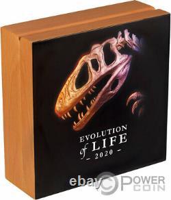 Sinraptor Evolution Of Life 1 KG Kilo Silver Coin 20000 Togrog Mongolie 2020