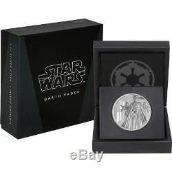 Star Wars 100 Usd Darth Vader 1 KG Kilo Silver Proof Coin 2016 Niue Disney Qeii