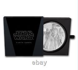 Star Wars Classic Dark Vader 2016 Nuie 1 Kilo Argent Pièce $100 Ngc 70 Er
