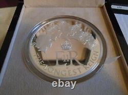 The Longest Reigning Monarch 2015 Uk Silver Proof Kilo Coin Limited Edition Box