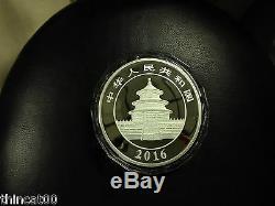 Une Feuille (2 Pièces) De La Chine 2016 Coins Argent 1 Kilo Panda
